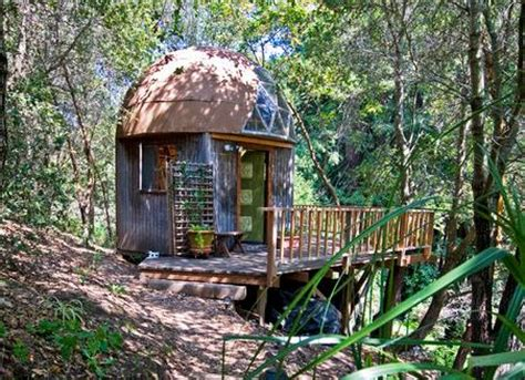 stay in the mushroom dome tiny house in aptos california tiny mushroom dome cabin in aptos ca