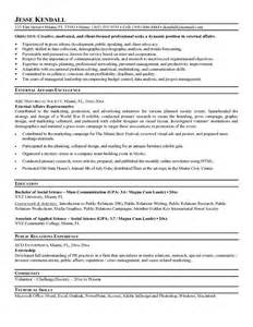 exle external affairs resume free sle