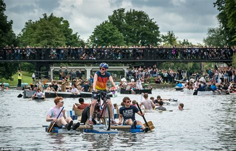cardboard boat thames cambridge students battle it out in water crafts made from
