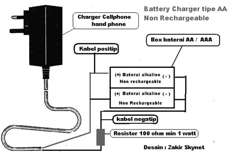 Volt Meter Aki Charger Hp solusi battery cara buat charger battery kering