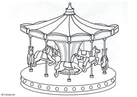 free carousel template coloring page merry go carousels