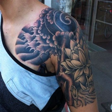 lucky lotus tattoo japanese lotus wind waves by macdonald at