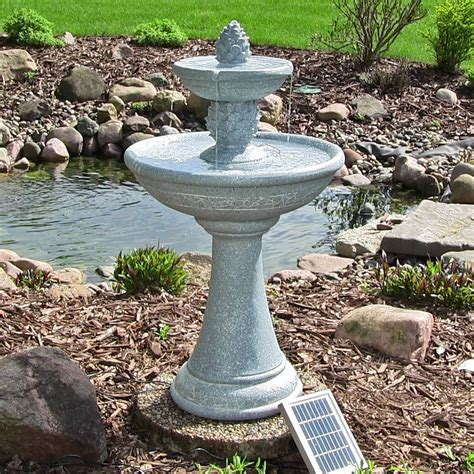 backyard drinking fountain water fountain continuous solar 2 pineapple tiered outdoor