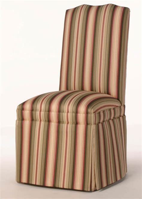 tufted skirted parsons chair camel back parsons chair w seat border customize