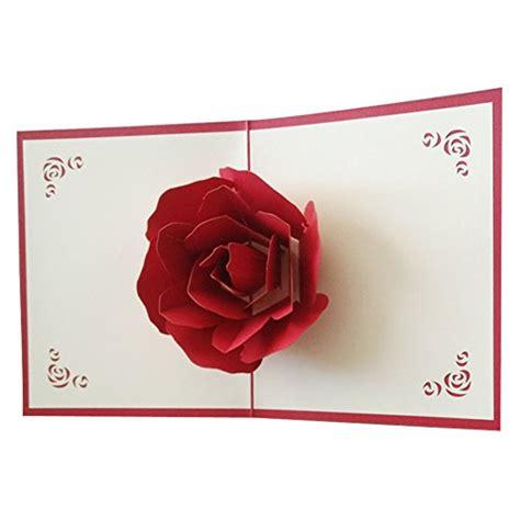 Pop Up Card Flowery Big osunp big 3d pop up greeting cards fantastic flower