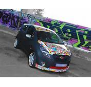 Chevrolet Spark Partial Car Wrapping Sticker Bomb 1