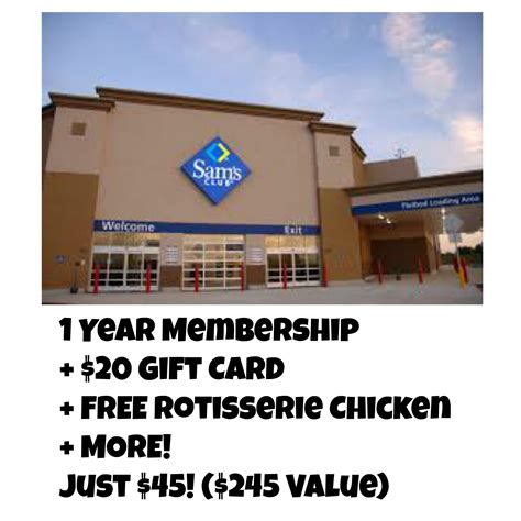 Sam Club Membership 20 Gift Card - limited time only sam s club membership 25 or membership freebies 20 gift card