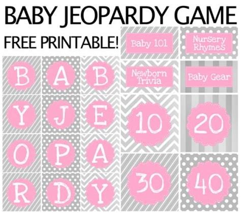 free printable bridal shower jeopardy 10 party tips and tricks babies and diaper parties