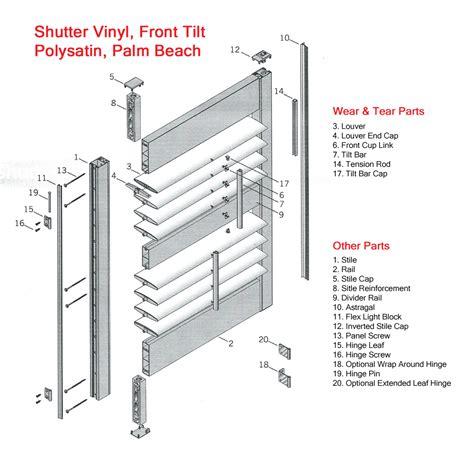 tilt shutter vinyl shutter parts shutter repair shutter pins vinyl shutter