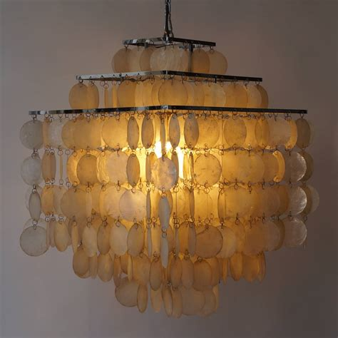 Shell Chandelier Capiz Shell Chandelier By Verner Panton For Sale At 1stdibs