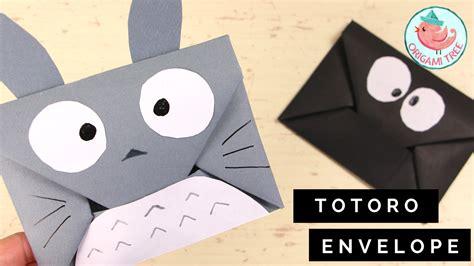 origami 3d totoro tutorial origami envelope totoro susuwatari 187 origamitree com