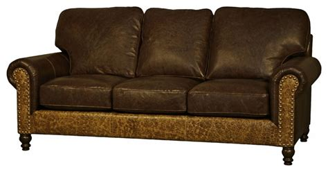 western style leather sofa rustic sofas by