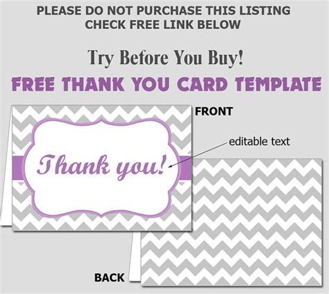 word templates for thank you cards free folded thank you card template diy editable