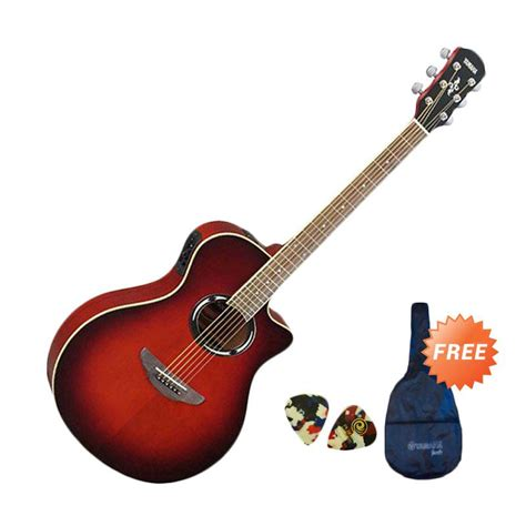 Gitar Akustik Elektrik 2 jual yamaha apx 500ii gitar akustik elektrik burst free softcase 2 pcs
