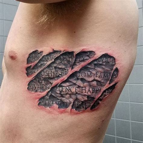 skin carving tattoos 80 designs for carved rock ink ideas