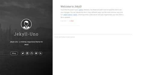 jekyll responsive layout jekyll uno by joshgerdes