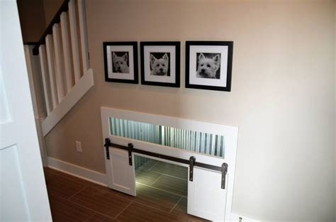 dog house door ideas so cute dog house under the stairs hendrix could have his own little room for