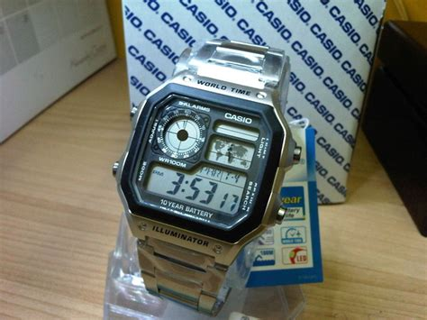 Jam Tangan Casio Ae1200 Digital jual casio illuminator ae1200 stainless steel juragan