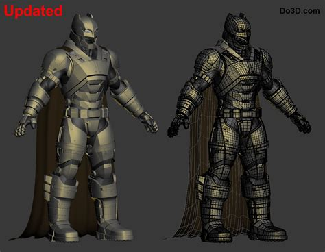 justice a steamy filled bodyguard armor 3d printable model of armored batsuit from