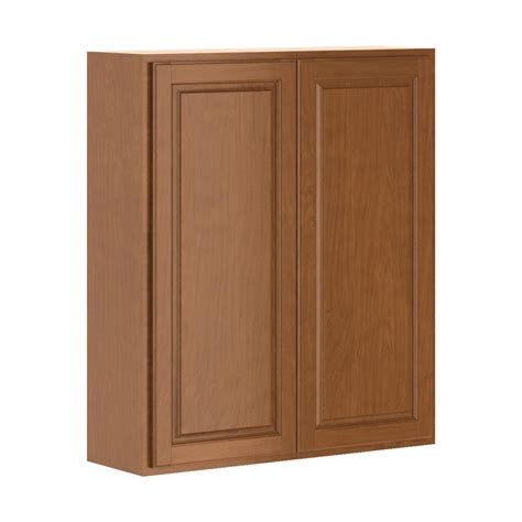 home depot cognac cabinets hton bay madison assembled 36x42x12 in wall cabinet in