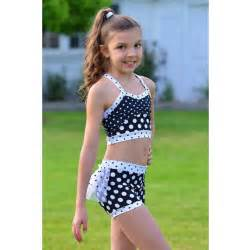 lexi luu big girls black white polka dot mia crop top