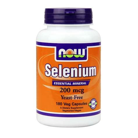 yeast free food now foods selenium 200 mcg yeast free 180 capsules evitamins