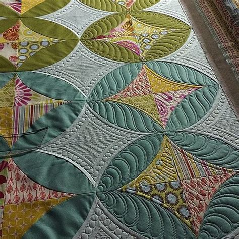Feeling Feathery Today by 6 Feather Blocks Quilted 18 More To Go It Feels To