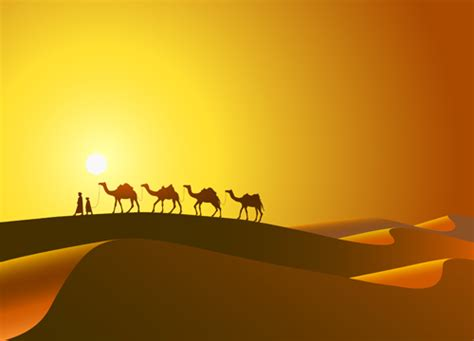 Desert And Camel Background Vector Free Free Download Desert Powerpoint Background