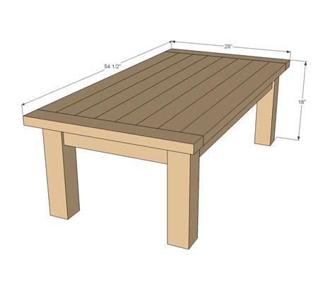ana white updated tryde coffee table pocket holes diy projects