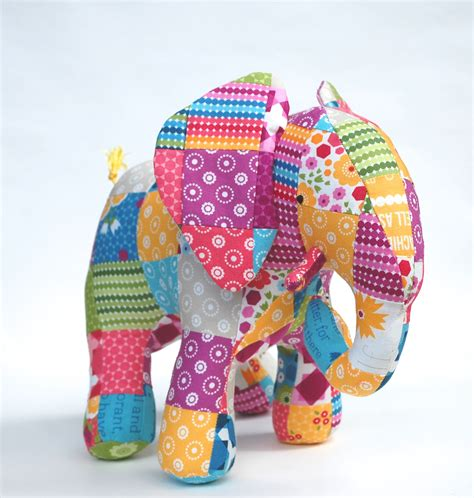 Patchwork Elephant - going from pdf to print whileshenaps