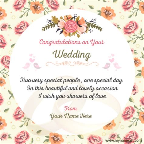 Make Wedding Congratulations Wishes Quotes Card Wishes Greeting Card Congratulations Wedding Card Template