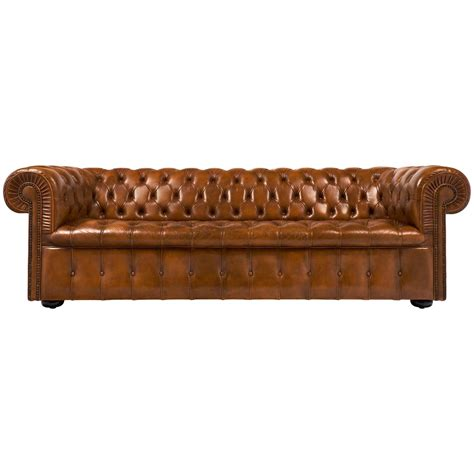 Vintage English Cognac Leather Chesterfield Sofa At 1stdibs Where To Buy Chesterfield Sofa