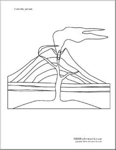 composite volcano coloring page 1000 images about teaching volcanoes on pinterest