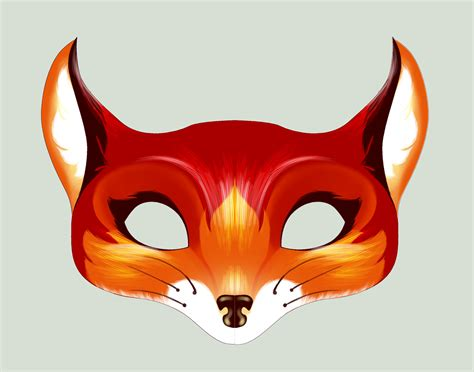 How To Make A Fox Mask Out Of Paper - fox mask search halflings masquerade