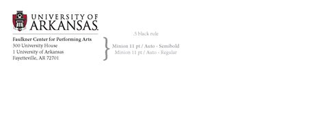 Official Letterhead School Official Letterhead And Envelopes Style Guides And Logos Of Arkansas