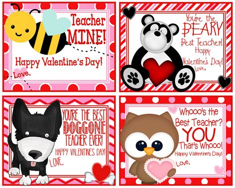valentines cards for teachers s card printable cards