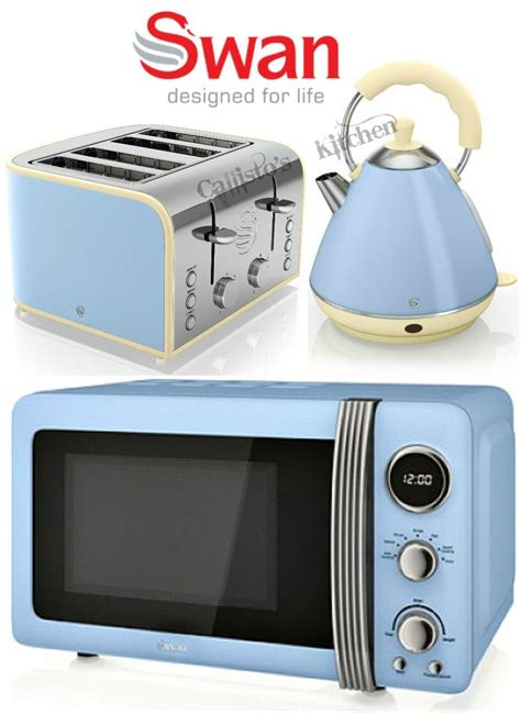 Toaster Kettle And Microwave Set Swan Kettle And Toaster Set Microwave Blue Toaster