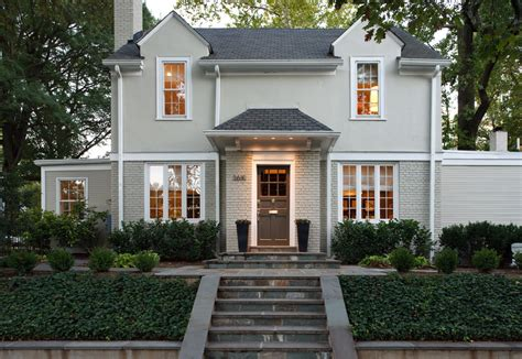 houses painted gray gorgeous painted brick home renovations traditional