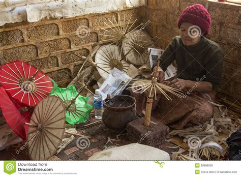 Cottage Industry by Cottage Industry Myanmar Burma Editorial Stock Image