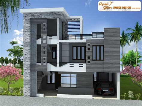 home design for duplex 3 bedrooms duplex house design in 180m2 10m x 18m design