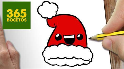 imagenes de arboles de navidad kawaii como dibujar un gorro para navidad paso a paso dibujos