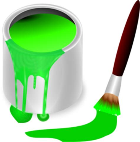 green paint green paint brush and can clip at clker vector