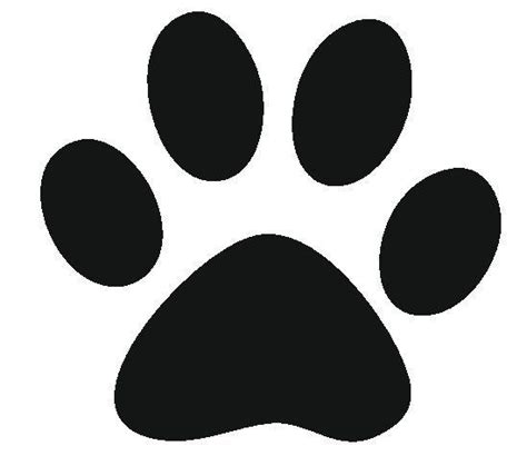 best photos of free paw print template free printable