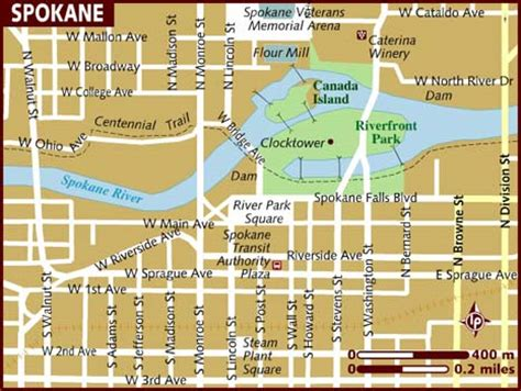 spokane map map of spokane