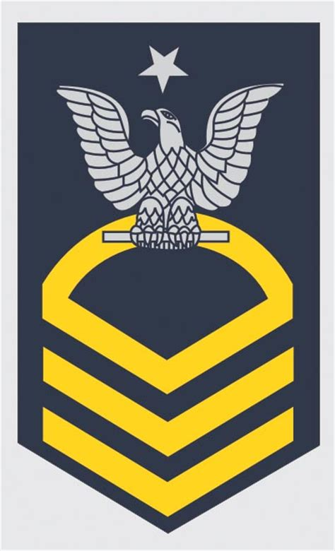 Petty Officer Rank by Us Navy E 8 Senior Chief Petty Officer Decal Bay