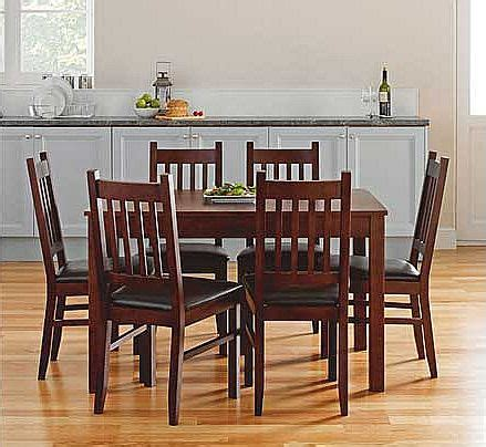 Cucina Dining Table And Chairs Cucina Walnut Dining Table And 6 Chairs Review Compare