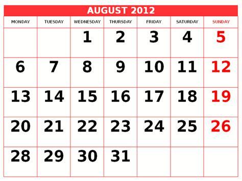 August 2012 Calendar Image Gallery 2012 Calendar August