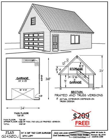 Plans For Garage by 24 X 30 Two Story Garage Garage Plans Pinterest