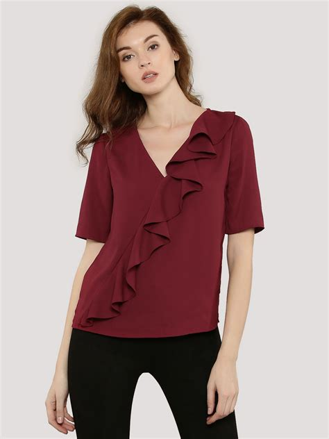 Rufle Top buy femella front ruffle top for s