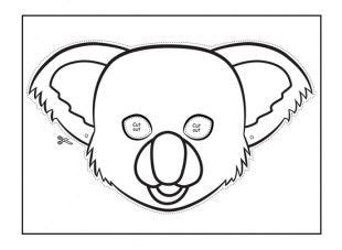 Koala Masks Themes Animal Mask Templates Animal Face
